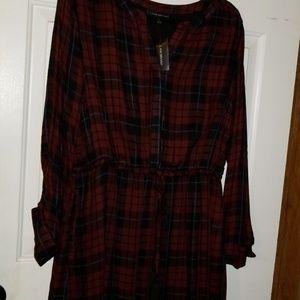 Lane Bryant plaid dress